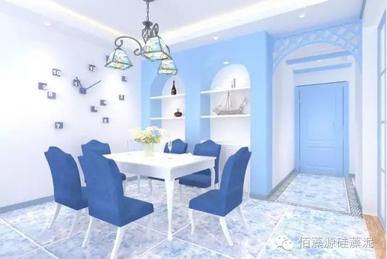 但蓝色的餐桌(餐桌装修效果图)或餐垫上的食物,总是不如暖色环境看着
